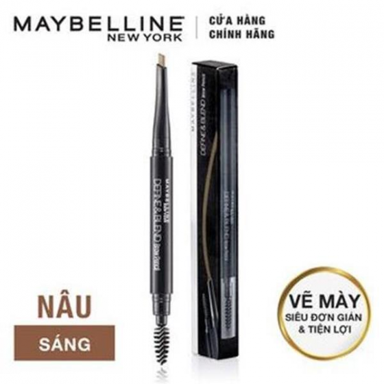 Chi chân mày Define  Blend Brow Pencil Maybeline, Light Brown