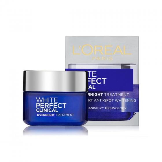 Kem dưỡng da trắng mịn và giảm thâm nám ban đêm LOreal Paris White Perfect Clinical 50ml