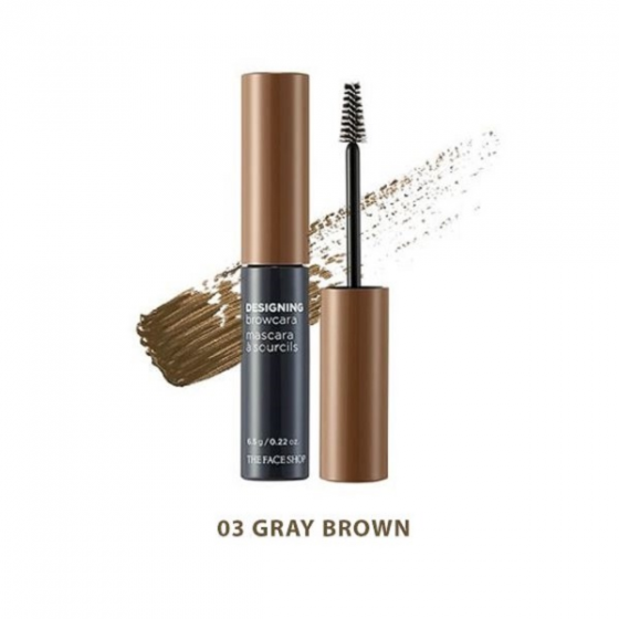 Chuốt chân mày The Face Shop designing browcara 03 gray brown