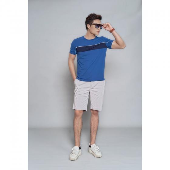 Áo phông nam ngắn tay ( regularfit)  màu xanh DGC - SAT1903M