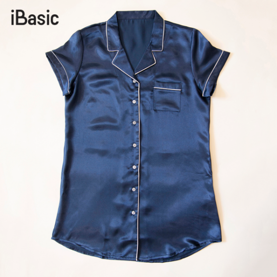 Đầm ngủ nữ satin iBasic SW039