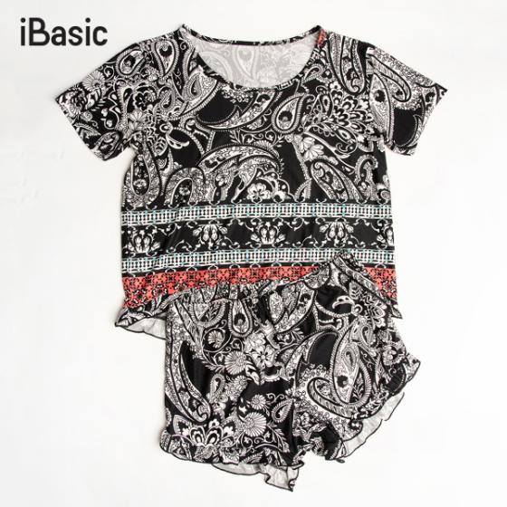 Đồ mặc nhà nữ họa tiết iBasic HOMY030