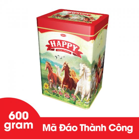 Bánh Happy Mã Đáo Thành Công hộp thiếc 600 gram Bibica