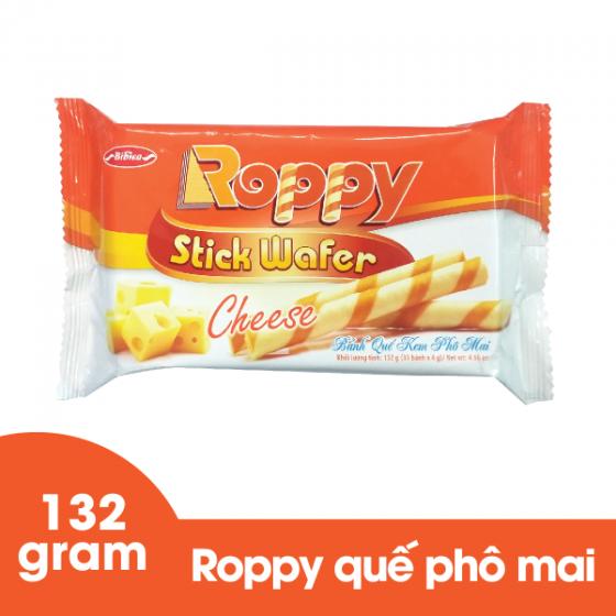 Bánh quế kem phô mai Roppy 132 gram Bibica