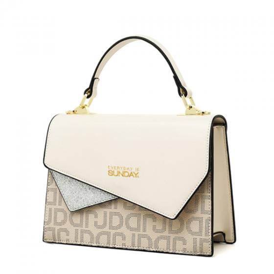 Túi xách tay nắp cách điệu SUNDAY SDHB 040120 - Màu trắng