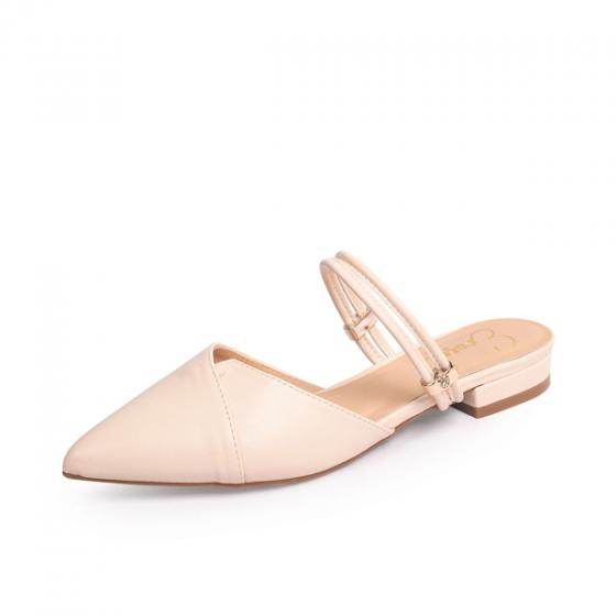 Giày nữ, giày cao gót kitten heel Erosska mũi nhọn cao 2cm mũi nhọn phối dây thời trang - EL004 (NU)