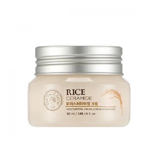 Kem dưỡng gạo sáng mịn da Rice Ceramide Moisturizing Cream The Face Shop (50ml)