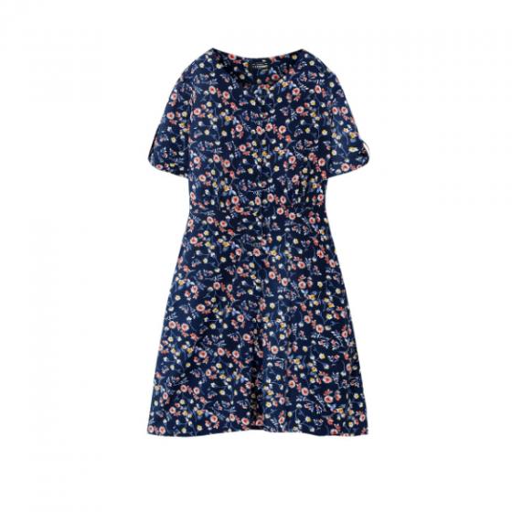 Đầm nữ The Cosmo KENDALL DRESS màu xanh navy TC2005234NA