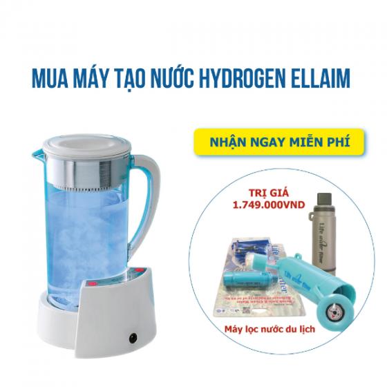 Máy tạo nước Hydrogen REWA ELLAIM dành cho gia đình - công nghệ Nhật Bản ( Tặng máy lọc nước du lịch cá nhân)