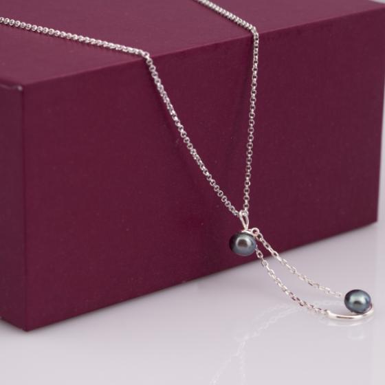 Dây chuyền bạc kết hợp mặt ngọc trai - Opal - NPT6-09