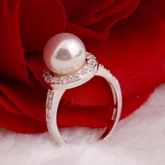 Nhẫn bạc đính ngọc trai - Opal - RPT6-02