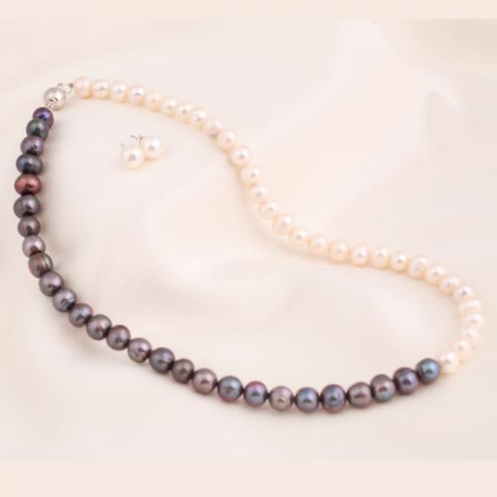 Set vòng cổ và hoa tai ngọc trai - Opal - S2PT6-12