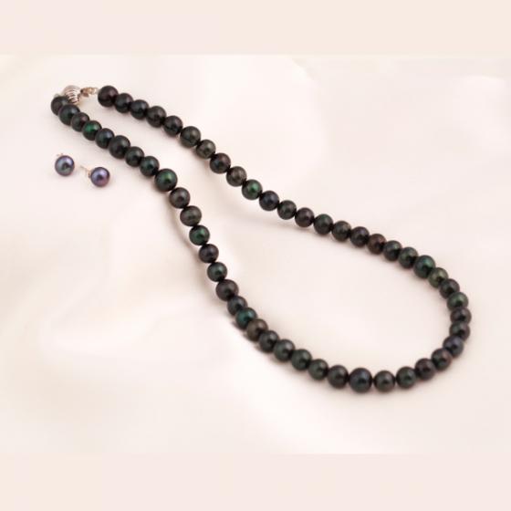 Set vòng cổ và hoa tai ngọc trai - Opal - S2PT6-08
