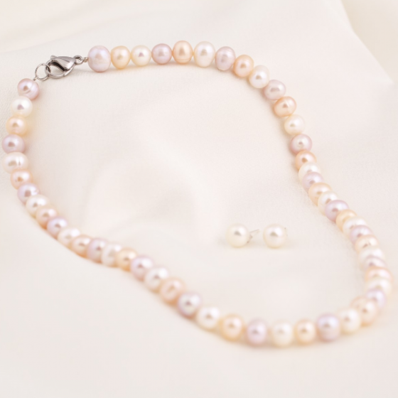 Set vòng cổ và hoa tai ngọc trai - Opal - S2PT6-09