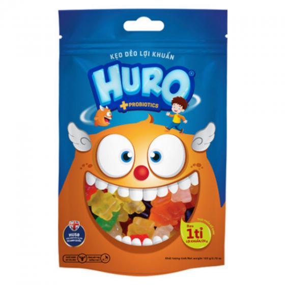 Kẹo dẻo lợi khuẩn Huro túi 105 gram Bibica