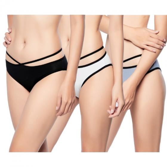 Combo 3 quần lót Modal dây chéo Miley Lingerie FDS0100-0200-0600