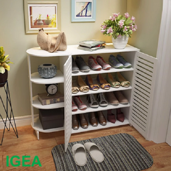 Tủ giày đa năng có kệ ig358 phong cách lịch lãm