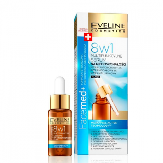 Serum dưỡng da chống nhăn ban đêm 8 trong 1 Facemed+Eveline 18ml