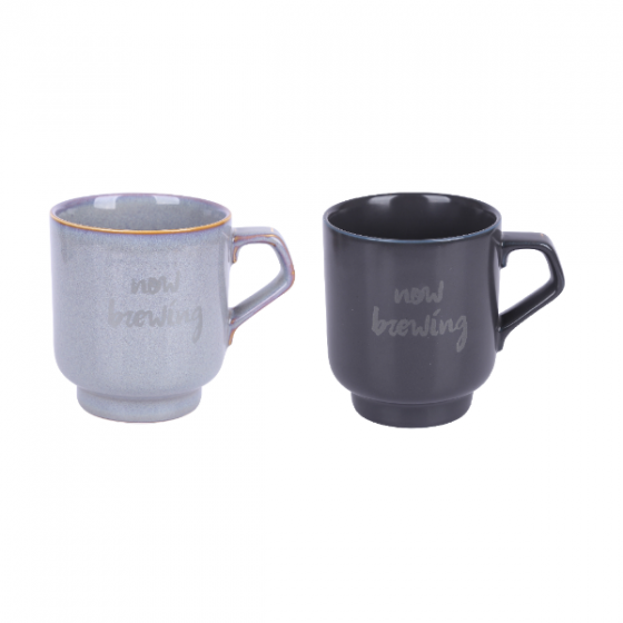 Bộ 2 chiếc cốc sứ Modern+Vintage Sa Maison, 9cm