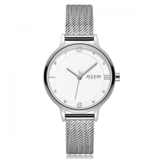Đồng hồ nữ Julius Hàn Quốc dây thép không gỉ JA-1251A ( bạc)