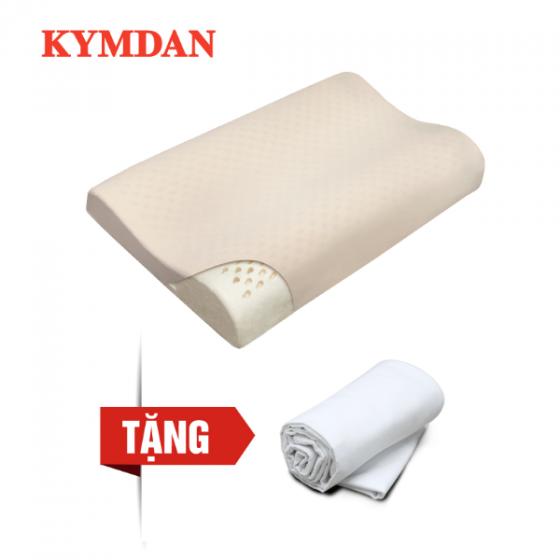 Gối cao su thiên nhiên Kymdan Pillow Glory Air 60 x 38 x 8,5 - 5,5 - 8 cm - Tặng 1 áo gối