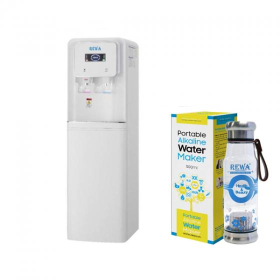 Combo Máy lọc nước Nano nóng lạnh Rewa RW-NA-816.WHITE + Máy tạo nước ION kiềm cầm tay RW-AK-1700