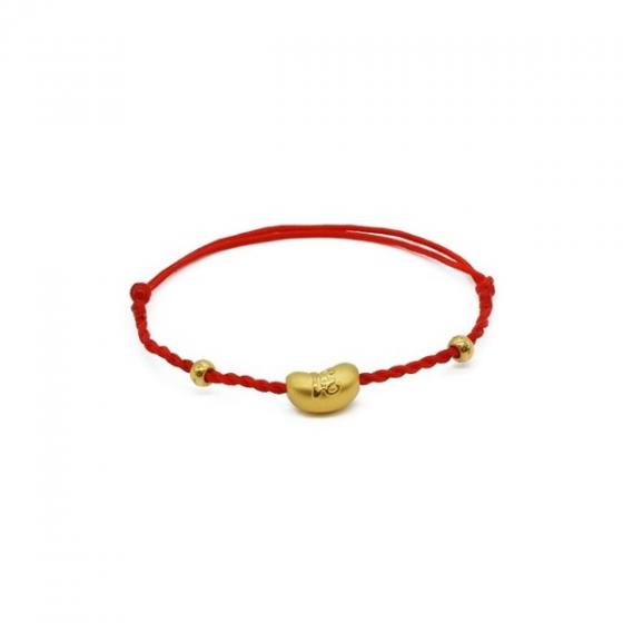 Vòng charm phong thủy hạt đậu chữ lộc vàng 24K DOJI CB66001