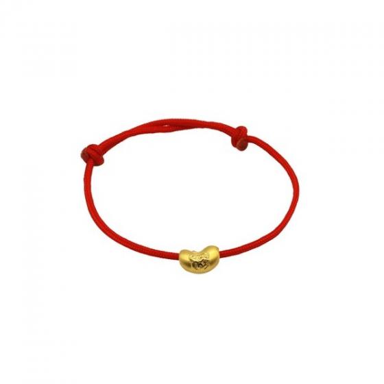 Vòng charm phong thủy hạt đậu chữ phúc CB60142 vàng 24K DOJI