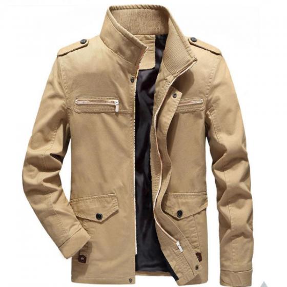 Áo khoác kaki màu trơn cao cấp có khóa kéo phong cách pigo fashion akk18 (chọn màu)