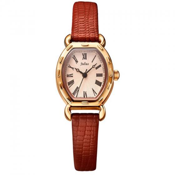 Đồng hồ nữ julius Hàn Quốc JA-544E dây da mặt oval