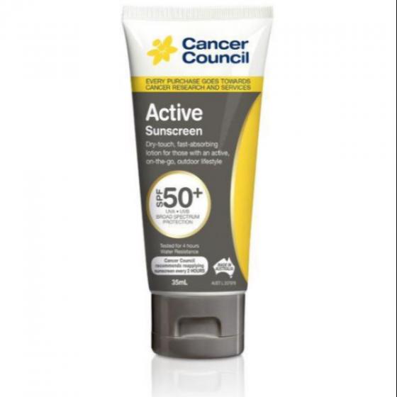 Kem chống nắng năng động - Cancer Council Active SPF50+ PA++++ 35ml