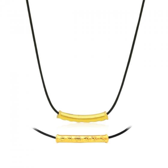 Mặt charm chữ Om Mani Padme Hum vàng 24K DOJI CH60148