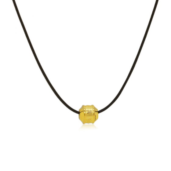 Mặt charm chữ Om Mani Padme Hum vàng 24K DOJI CH60151