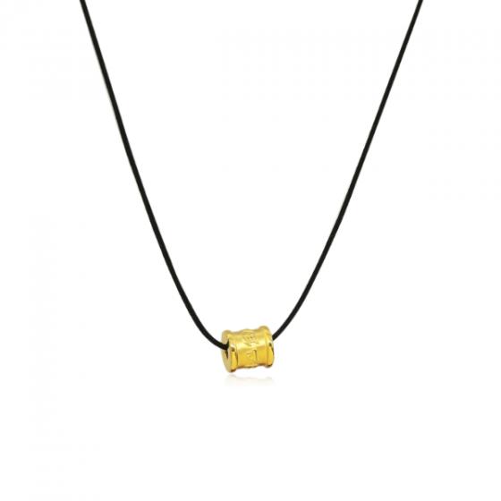 Mặt charm chữ Om Mani Padme Hum vàng 24K DOJI CH60166