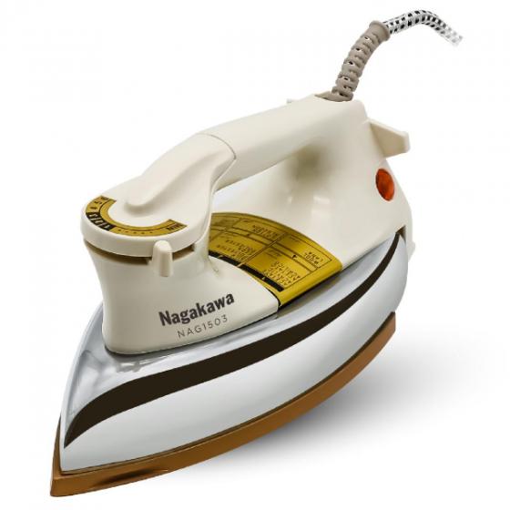 Bàn ủi khô chống dính ceramic Nagakawa NAG1503 - 1200W - hàng chính hãng