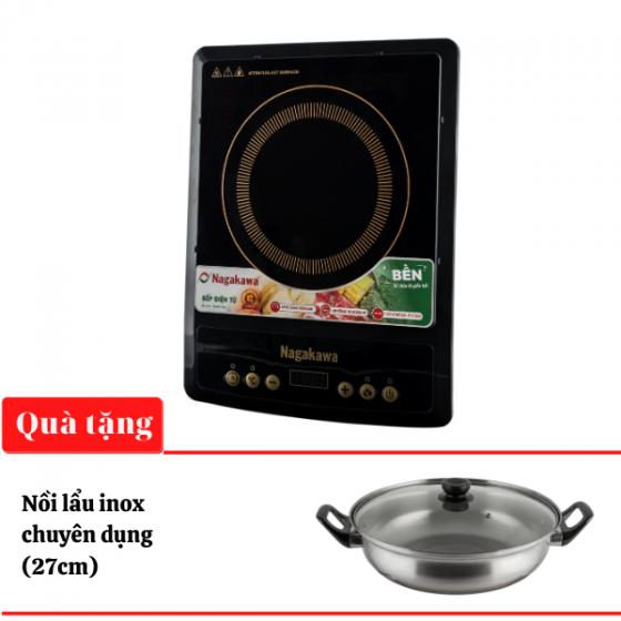 Bếp từ đơn Nagakawa NAG0706 1800W - Kèm nồi lẩu - Hàng chính hãng