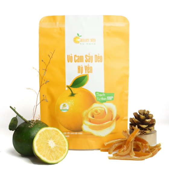Vỏ cam sấy dẻo Kỳ Yến (túi 50g) - Giàu vitamin C và tăng cường sức đề kháng