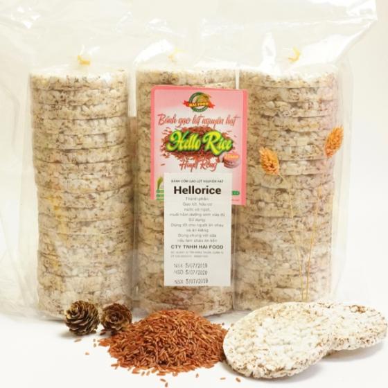 Bánh gạo lứt huyết rồng Hellorice - Phù hợp ăn kiêng và tốt cho người tiểu đường (500g)