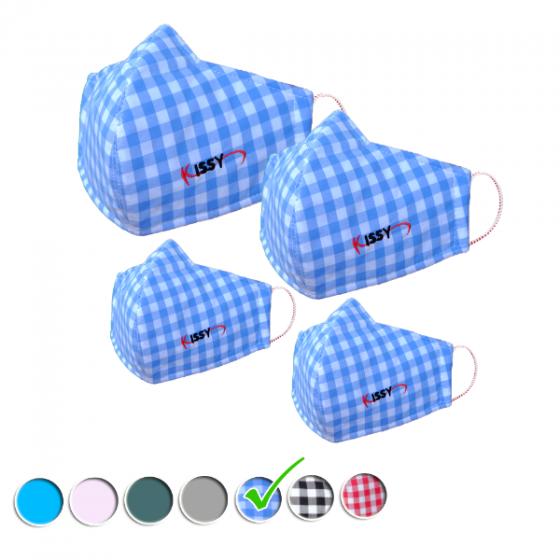 Combo 4 khẩu trang Kissy gia đình chống bụi mịn với 7 mẫu vải cá tính