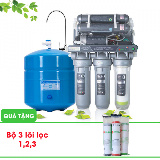 Máy lọc nước RO Bamboo Rio- Không vỏ tủ, 9 cấp lọc. (Tặng kèm bộ 3 lõi lọc 1,2,3)