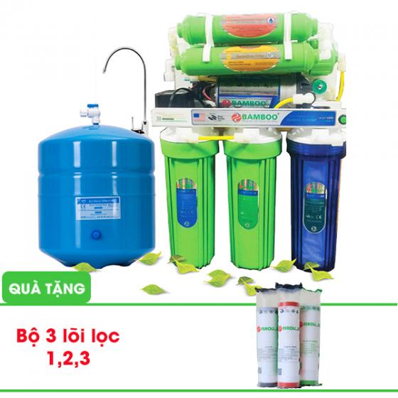 Máy lọc nước RO Bamboo - Không vỏ tủ, 9 cấp lọc. (Tặng kèm bộ 3 lõi lọc thô 1,2,3)