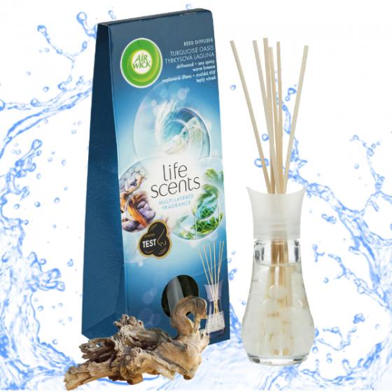 Bộ khuếch tán tinh dầu que mây Air Wick Turquoise Oasis 30ml QT018788 - hương gió biển