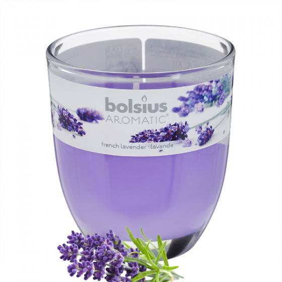 Ly nến thơm tinh dầu Bolsius French Lavender 105g QT024340 - hoa oải hương