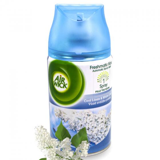 Bình xịt tinh dầu thiên nhiên Air Wick Cool Linen and White Lilac 250ml QT016834 - hoa tử đinh hương