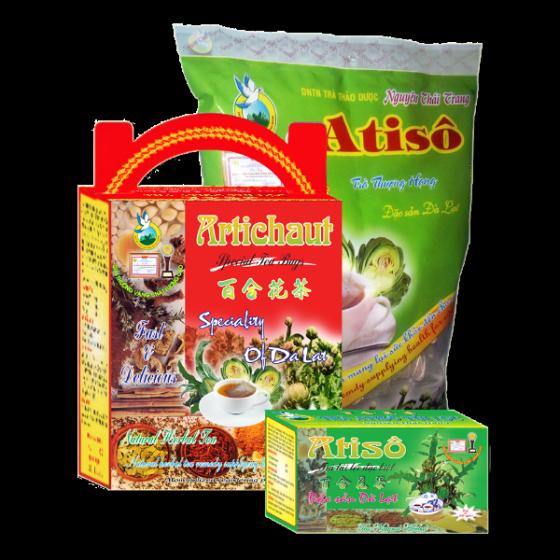Trà atisô (artichoke tea) giúp ăn ngủ ngon- da mặt mịn màng (hộp 100 túi lọc x 2g) - loại thượng hạng