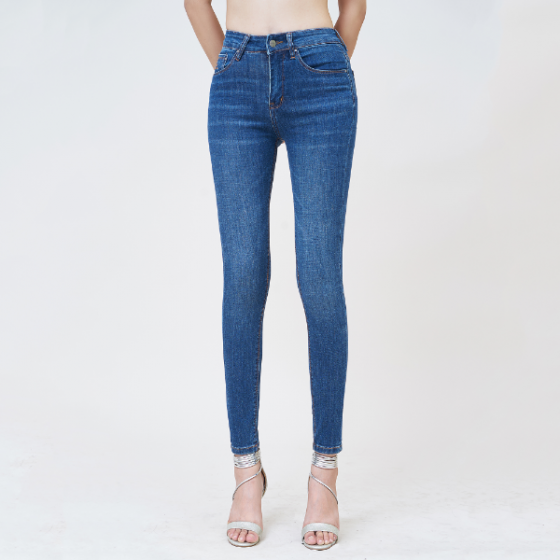 Quần jean nữ skinny lưng cao xanh midnight - ucsd rayon - Aaa Jeans