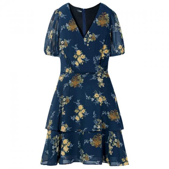 Đầm nữ The Cosmo DEMI DRESS màu xanh TC2005243NA