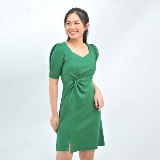 Váy đầm nữ công sở thời trang Eden xoắn eo - D416