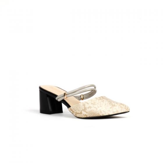 Giày cao gót vân da rắn Vasmono 053