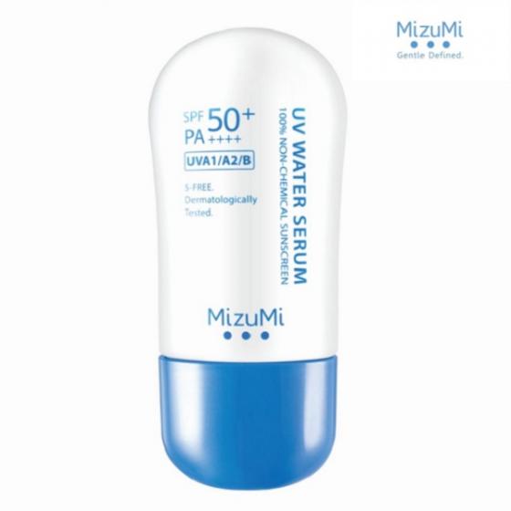 Kem chống nắng MizuMi UV Water Serum Non-Chemical Sunscreen gốc nước SPF50+ PA++++ 40g